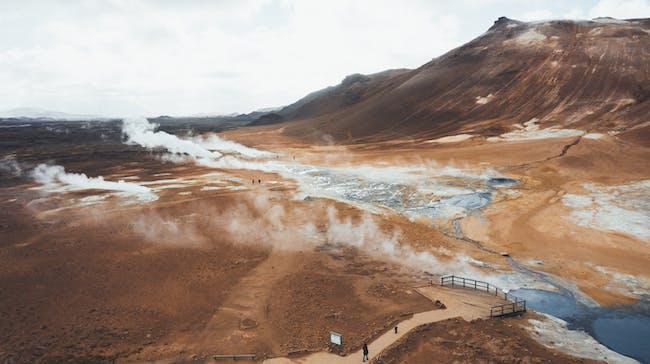 Hverir, geothermal area in North Iceland