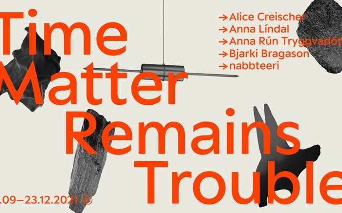 Time Matter Remains Trouble art exhibition poster