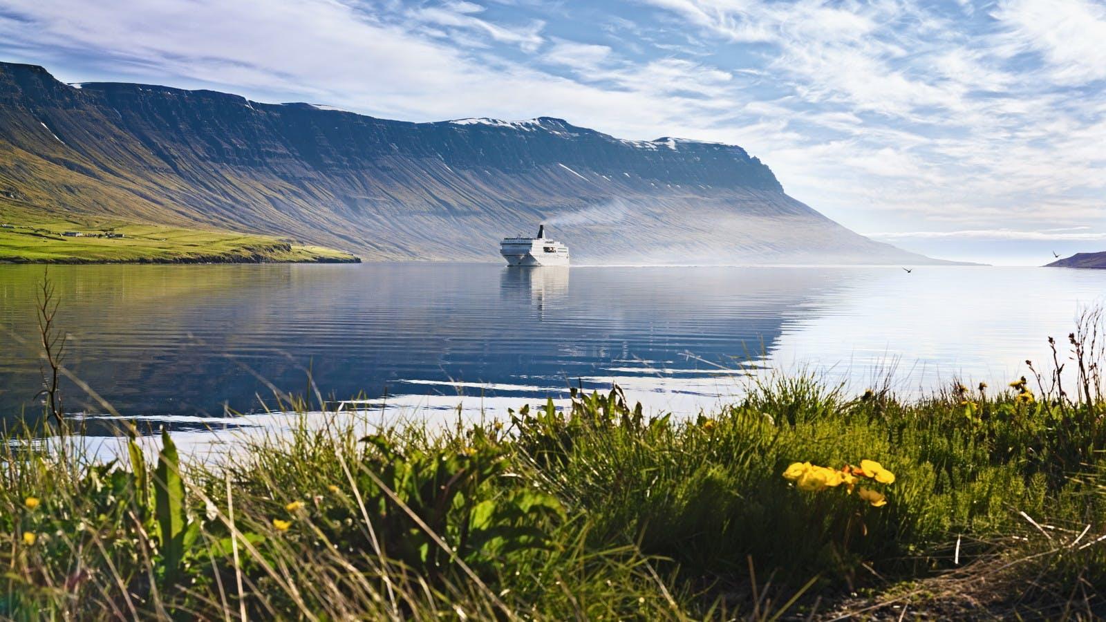 Sailing into Seyðisfjörður