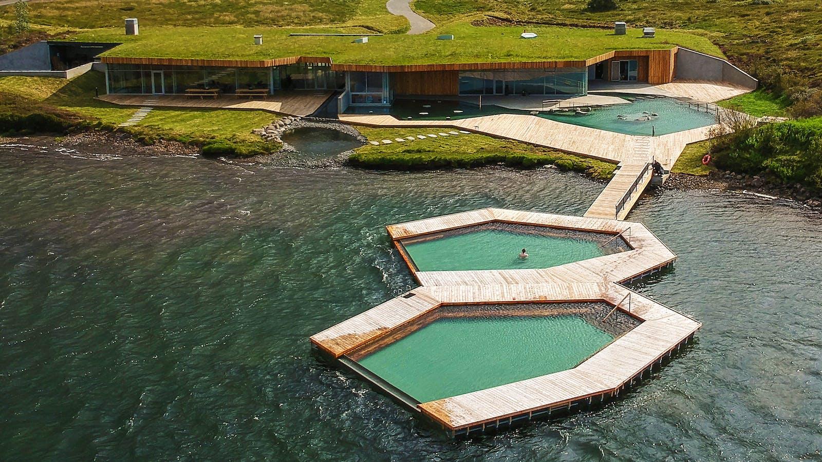 Vök Baths, designed by Basalt Architects