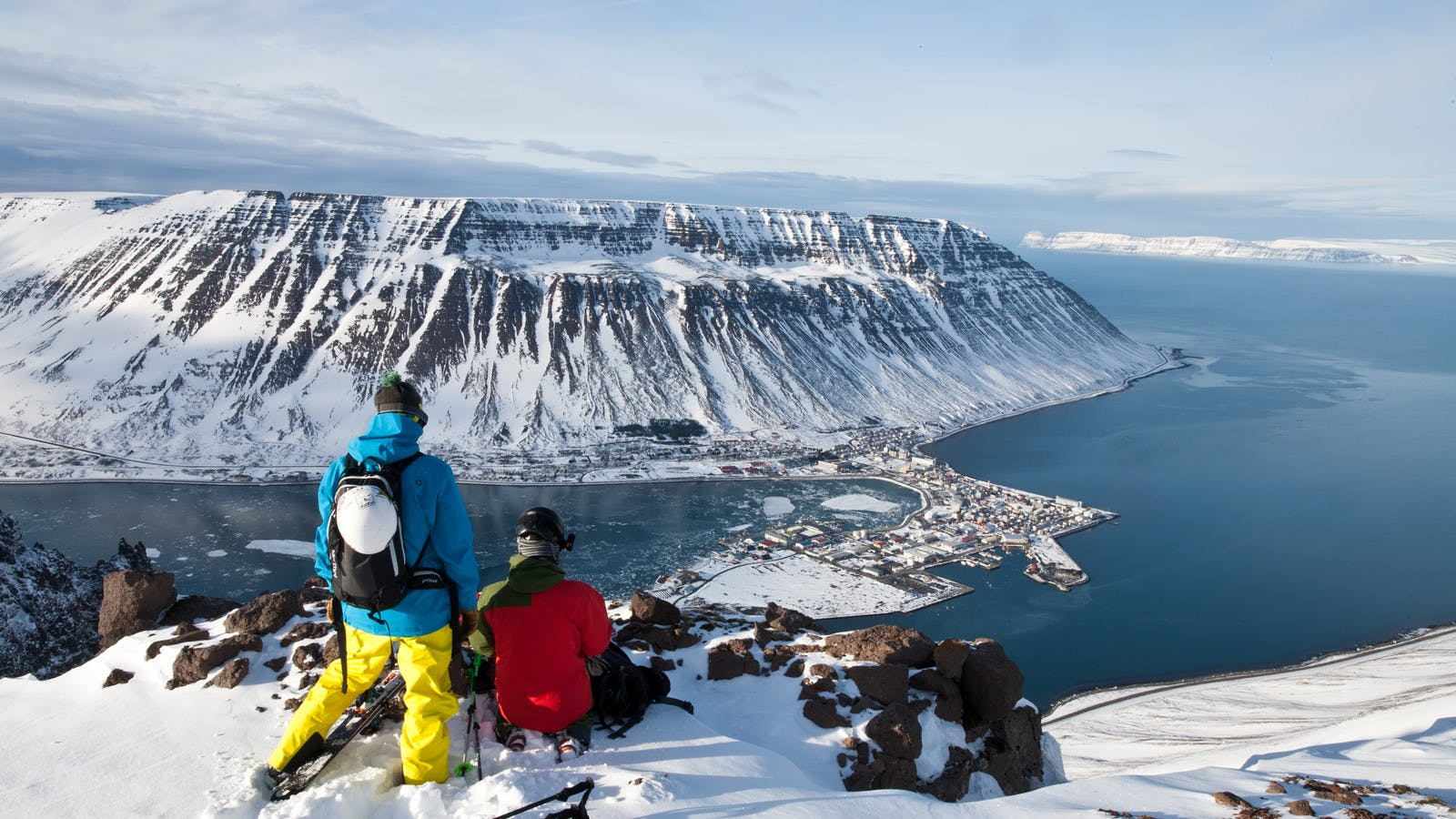 Skiing in the Westfjords