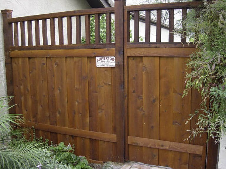 Superior Fence Company wooden fence