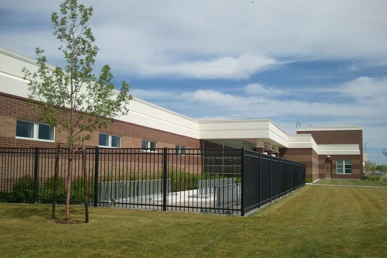 Allied Fence Co. steel fence.