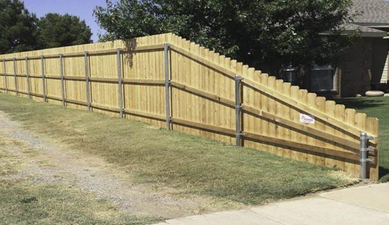 B&C Fence Inc. Wooden Fence