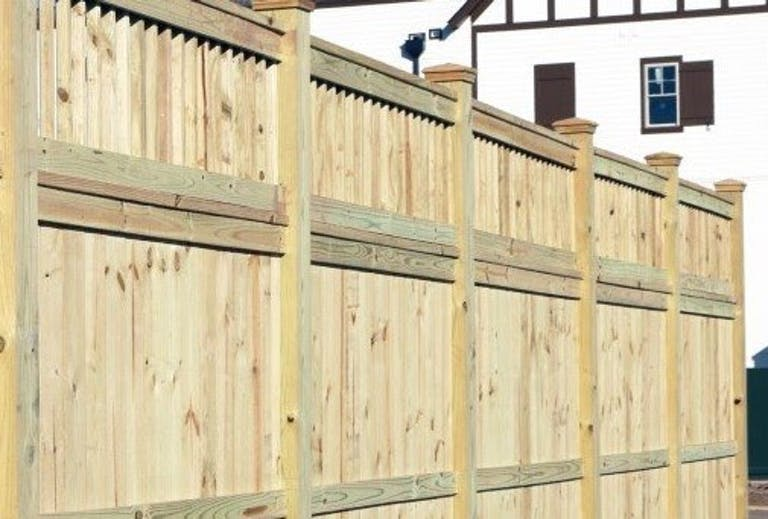 Maury Fence Co. wooden fence