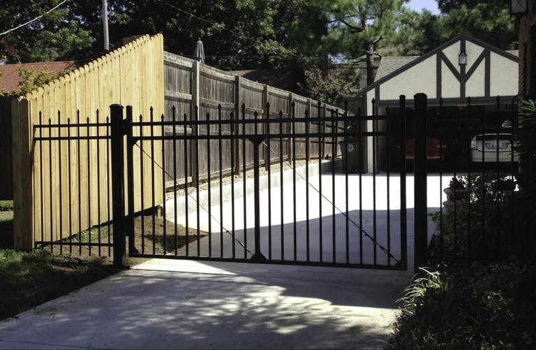 A 1 Fence Company steel fence