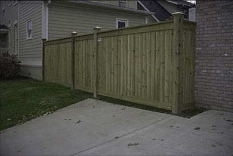 S & T Fencing Inc. Wooden Fence