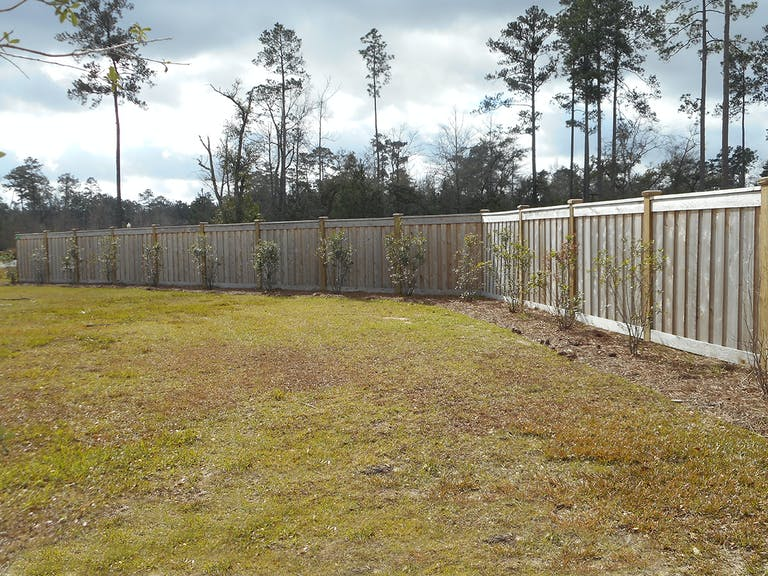 A 1  Fence  &  Patio  Inc.  wooden  fence