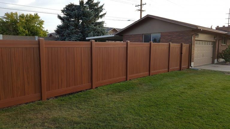 A Fence Utah LLC wooden fence.
