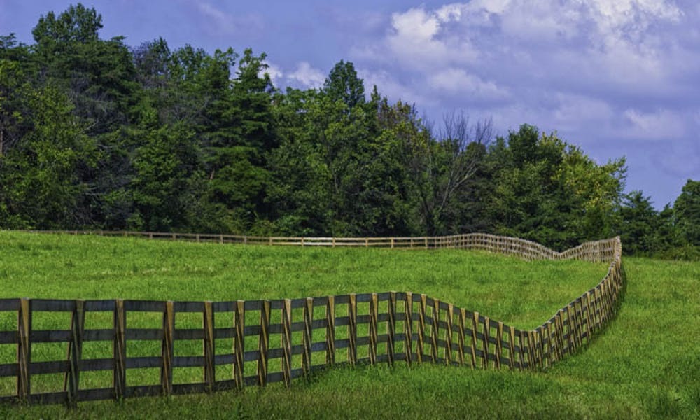 Softwood, post and beam fencing in Alabama