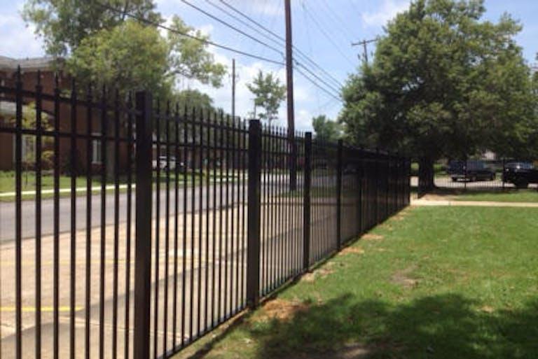 Tornado  Fence  Co.  steel  fence