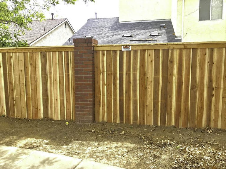 CalWest Services Wooden Fence
