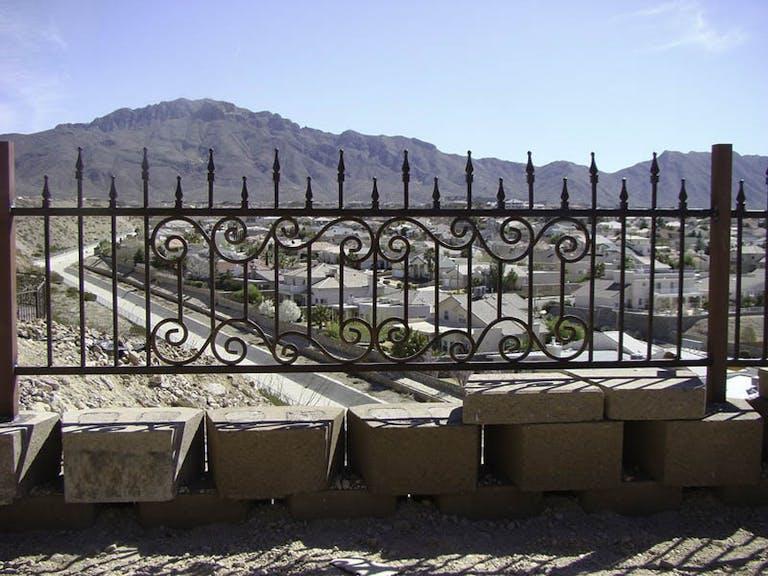 New Mexico Steel Fabricators Inc. Iron Fence