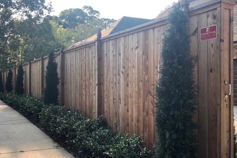 Forsythe  Fence  Co.  wooden  fence