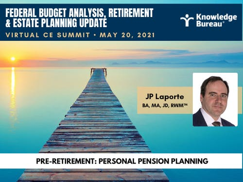 How to Protect the Assets of Business Owners with Pension Options: JP Laporte Explains. Enrol now for May 20 Virtual CE Summit