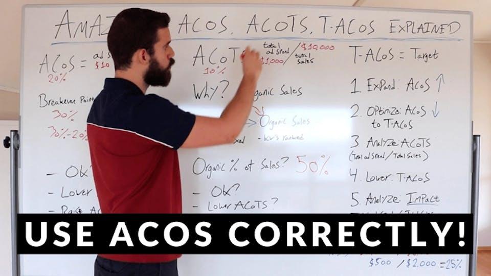 How To Optimize Amazon PPC For PROFIT (ACoS, ACoTS & T-ACoS Explained)