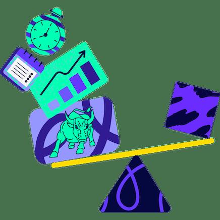 Ilustración de herramientas de inversión