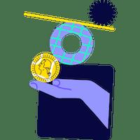 Ilustración de apertura y mantenimiento de cuenta gratis