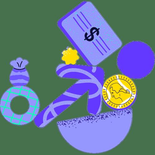 Ilustración con elementos de inversiones intermedias en equilibrio