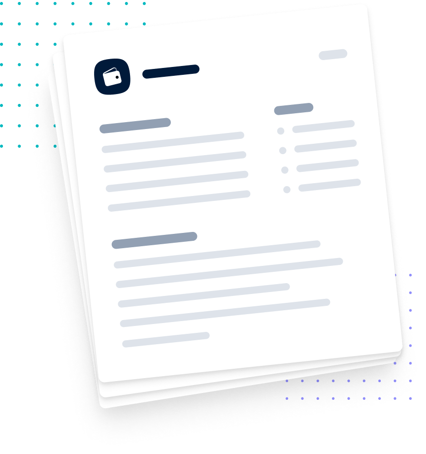 cartoon paper with payments logo