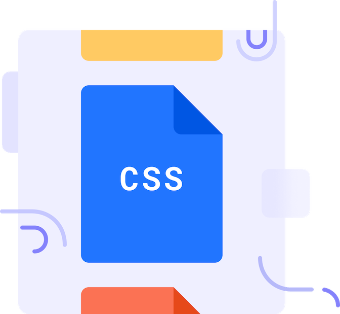 "paper icon with text ""css"""