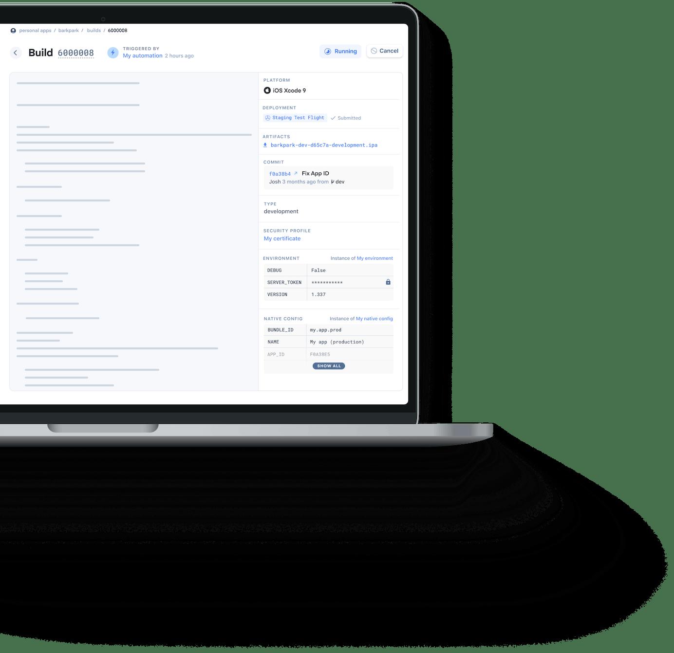 macbook with appflow dashboard