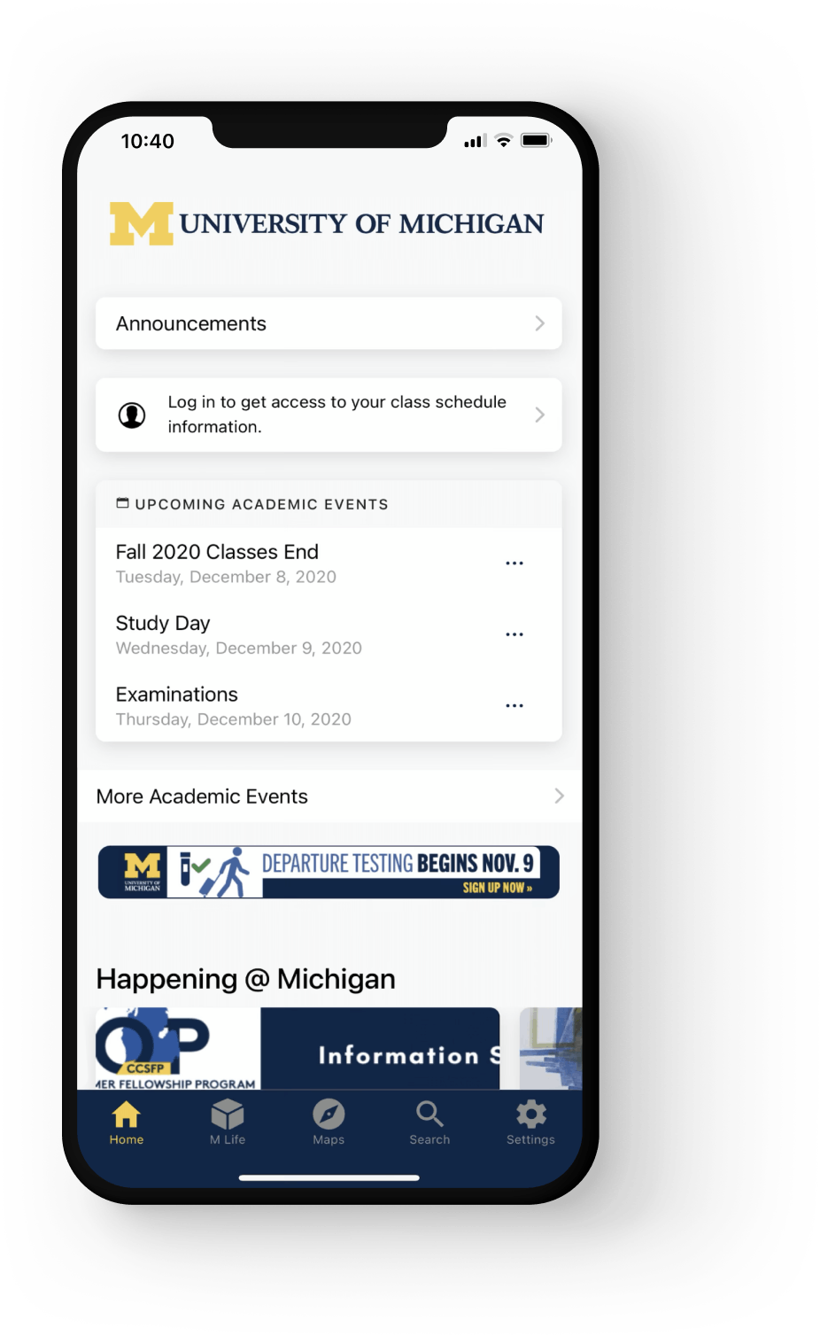 University of Michigan Mobile app