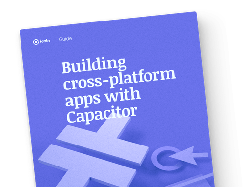 "book cover with title ""Building cross-platform apps with capacitor"""