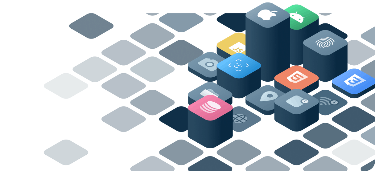 Raised platforms with app icons