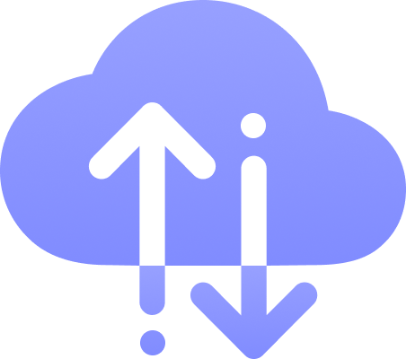 cloud with up and down arrows