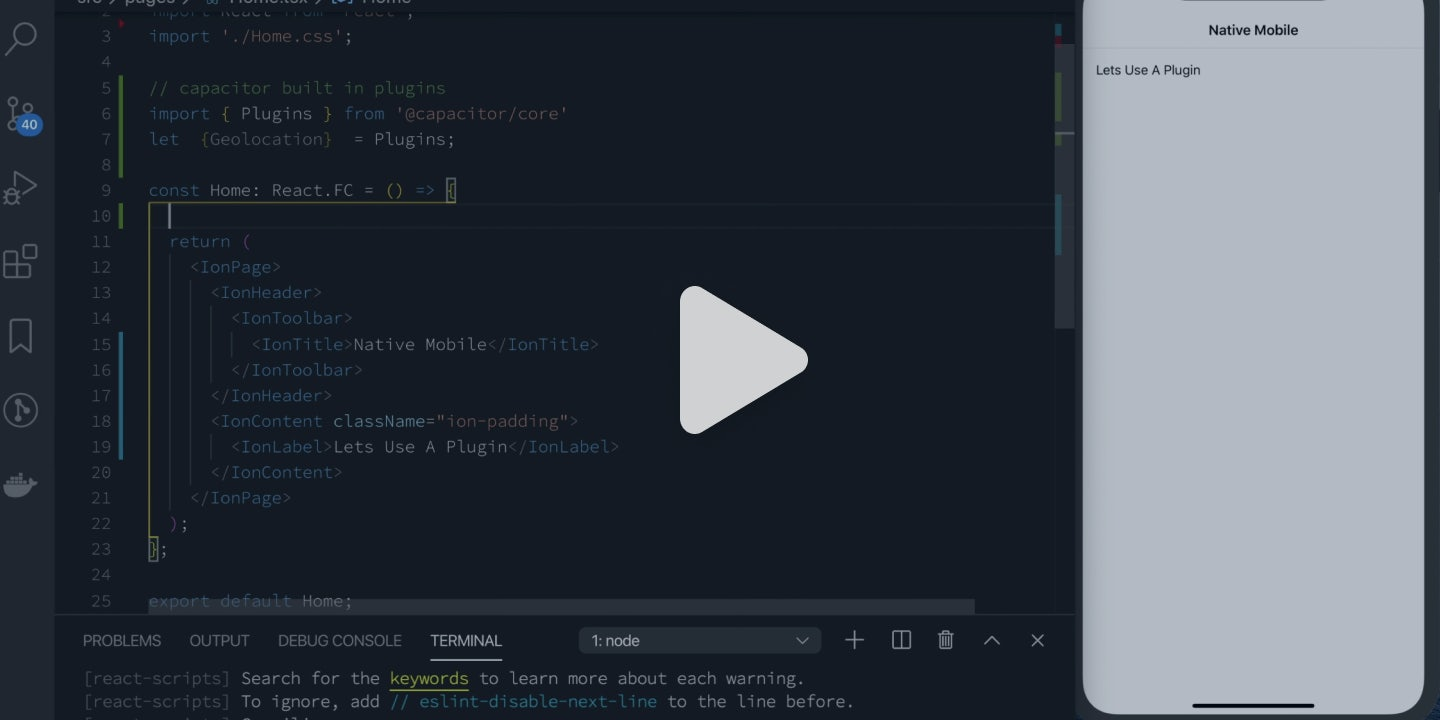 Live Reload Debugging with React and Capacitor