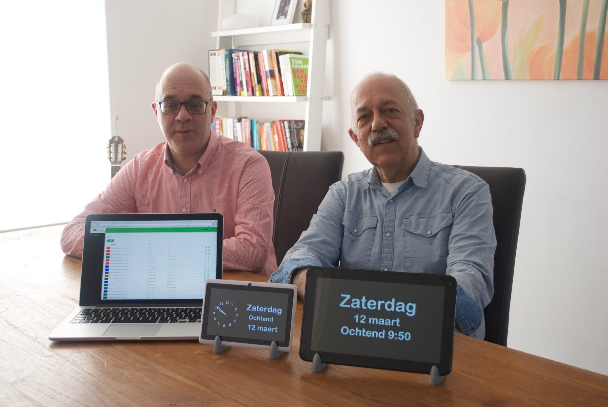 Dayclocks founders Henk and Marcel