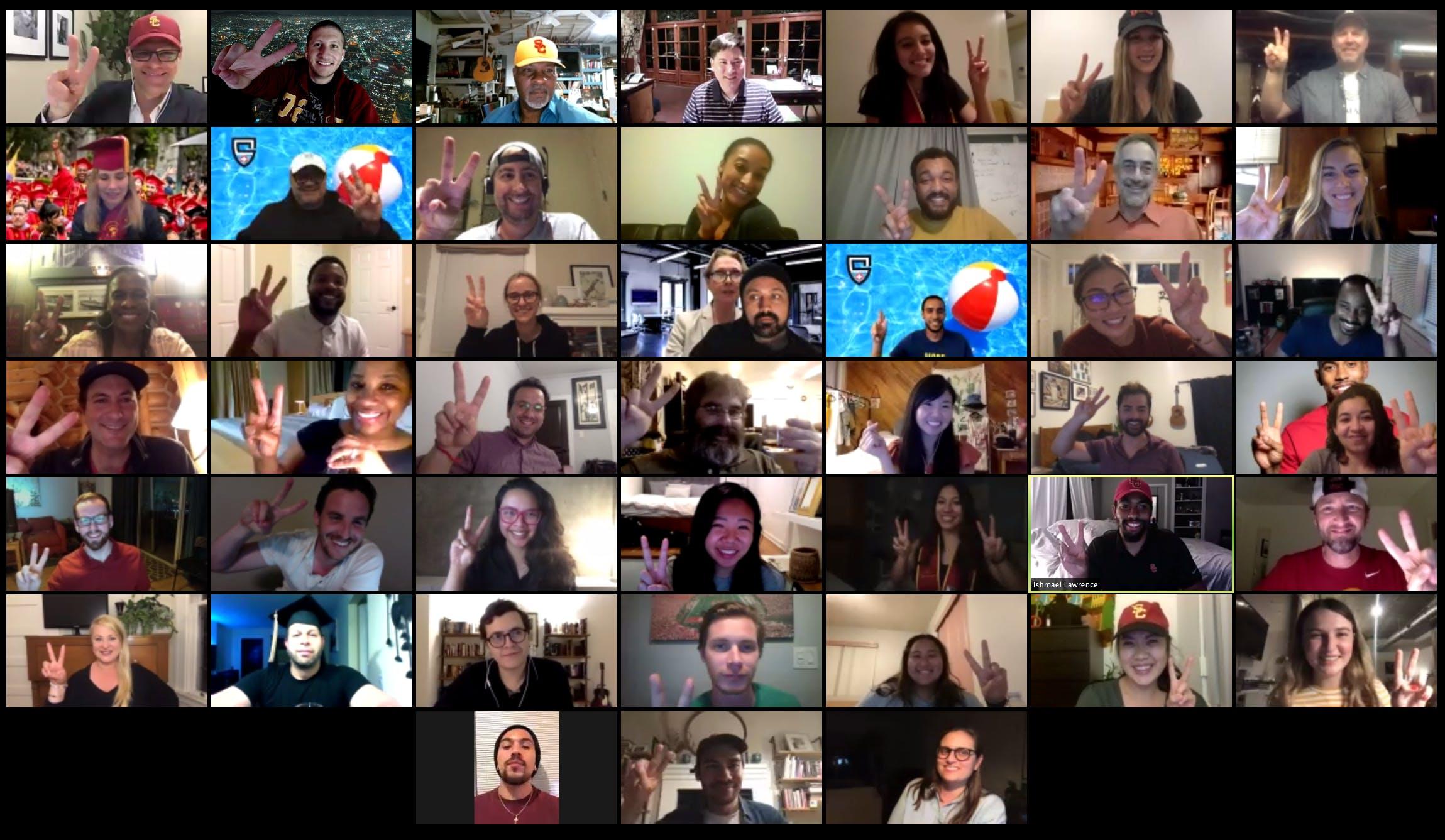 A screenshot of a Zoom meeting.