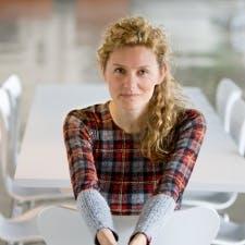 Woman in plaid shirt
