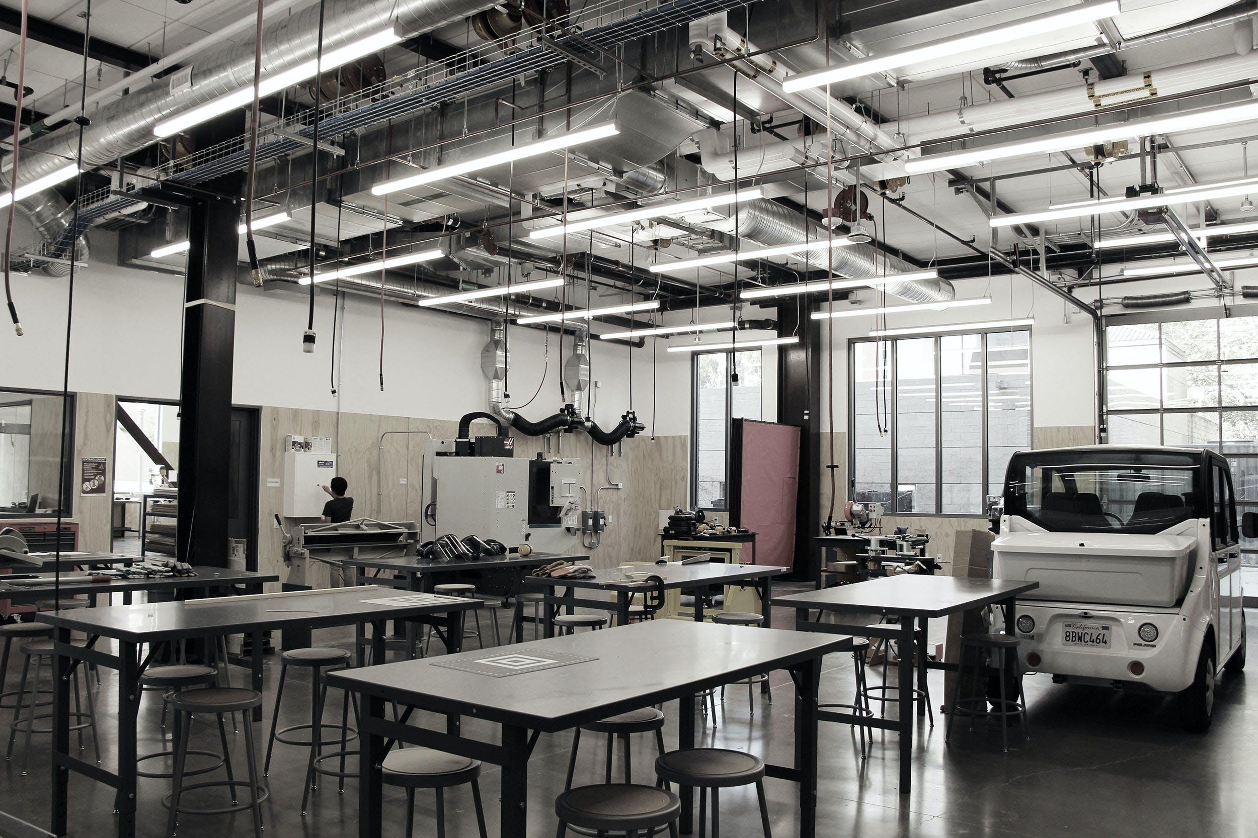 A vacant creator studio