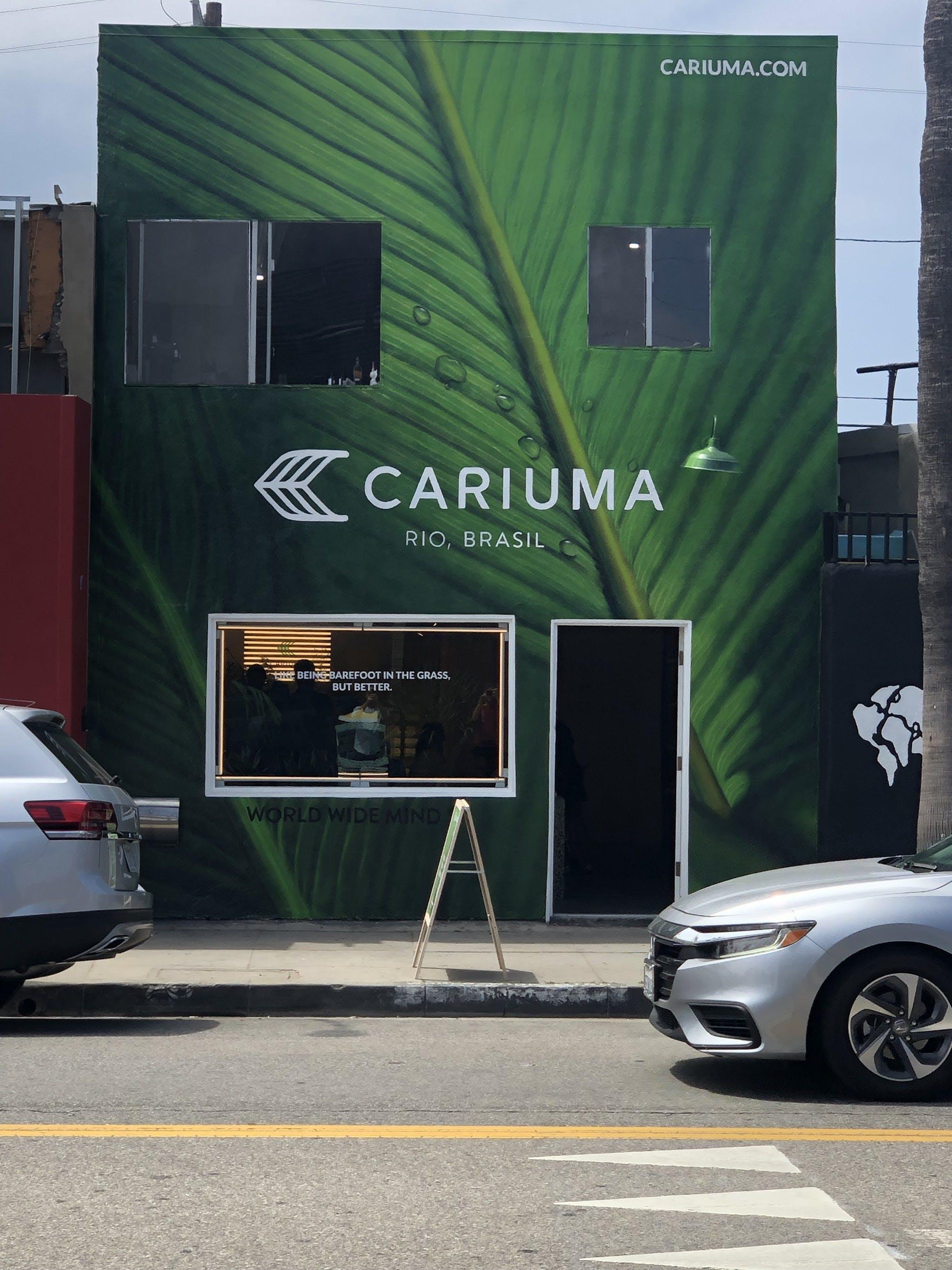 Exterior of a building labeled Caruma
