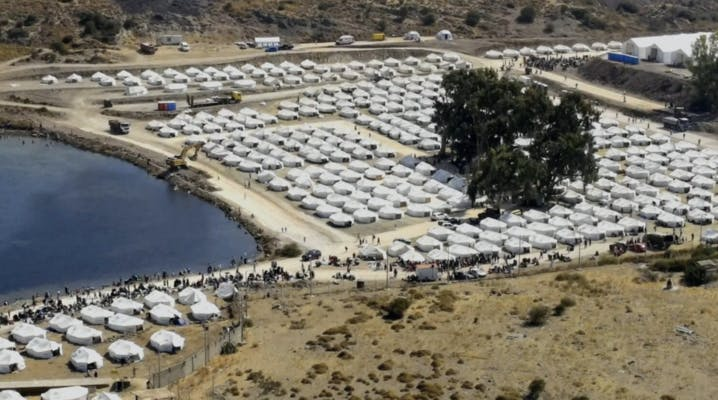 Large tent encampment