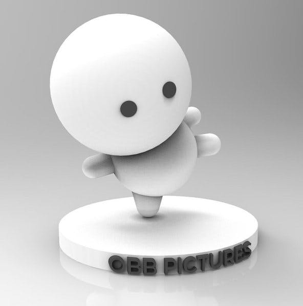 A computer-generated image of a humanoid figure balancing on one leg