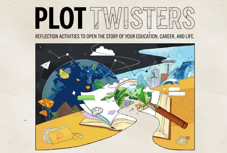 An illustrated page labeled Plot Twisters