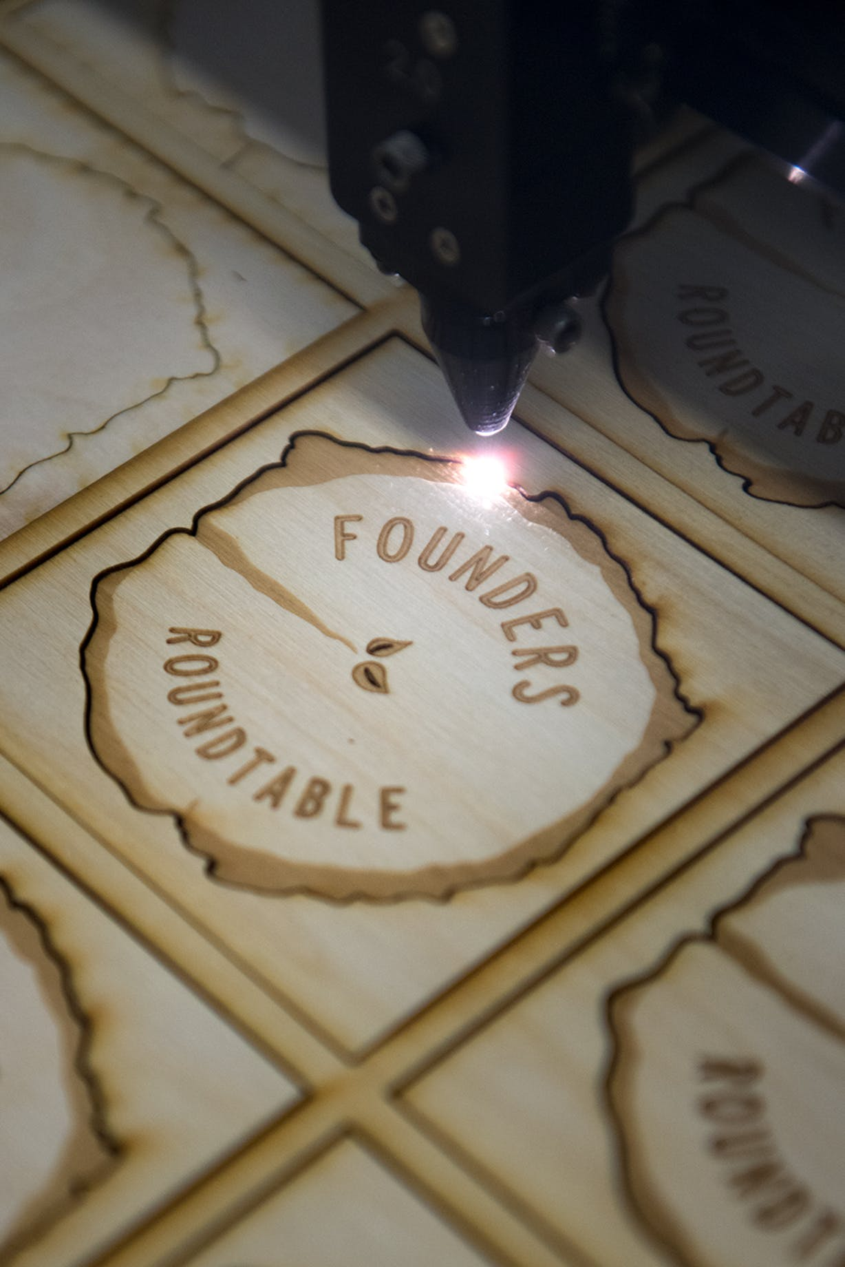 laser cutting on wood
