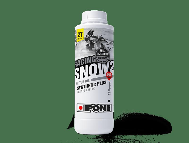 Bidon 1L huile moteur motoneige 2 temps parfumée à la fraise SNOW 2 RACING IPONE