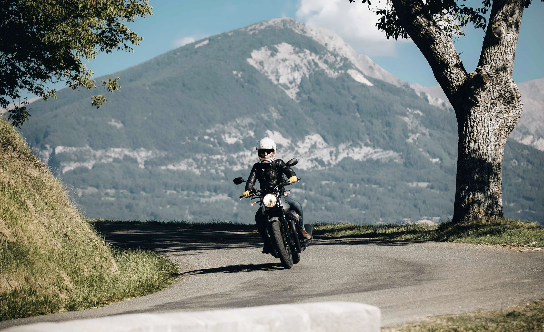 The road to the Alpes Aventure MotoFestival