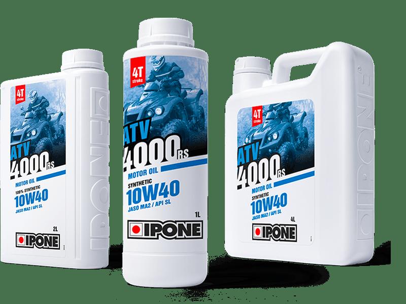 Bidons 1L 2L et 4L huile moteur quad 4 temps ATV 4000 RS IPONE
