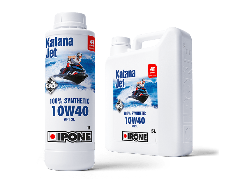 Bidons 1L et 5L huile jet ski 4 temps katana jet ipone