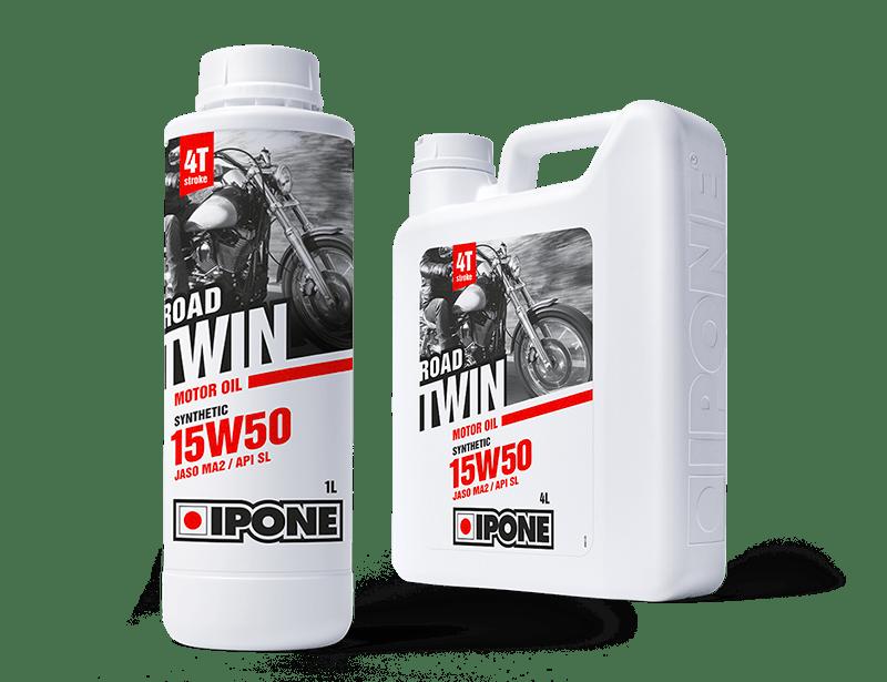 Bidons 1L et 4L huile moteur 4 temps ROAD TWIN IPONE