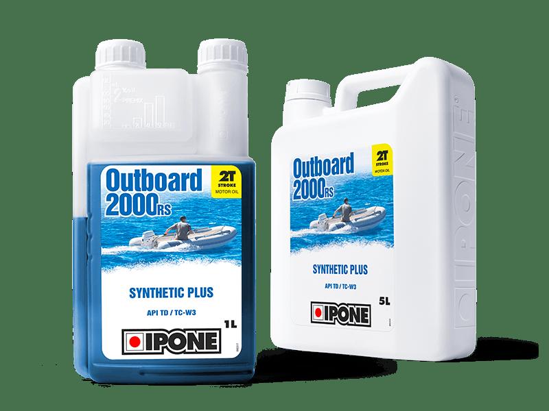 Bidons 1L et 5L huile bateau 2 temps OUTBOARD 2000 RS IPONE