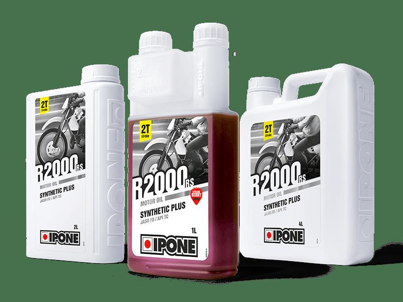 Bidons 1L 2L 4L huile moteur 2 temps R2000 RS IPONE