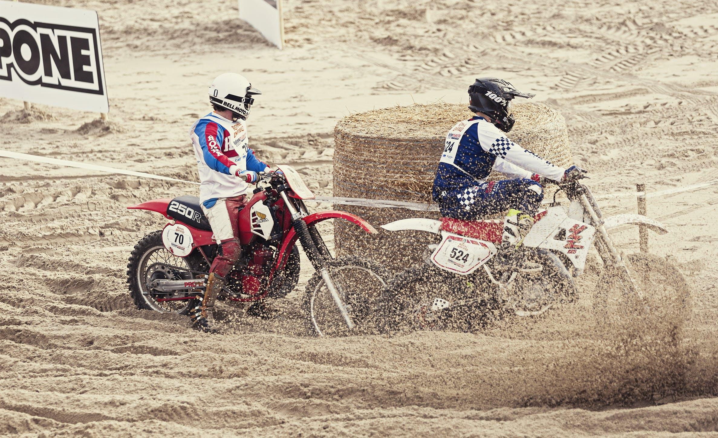 Deux motocross enduropale du Touquet