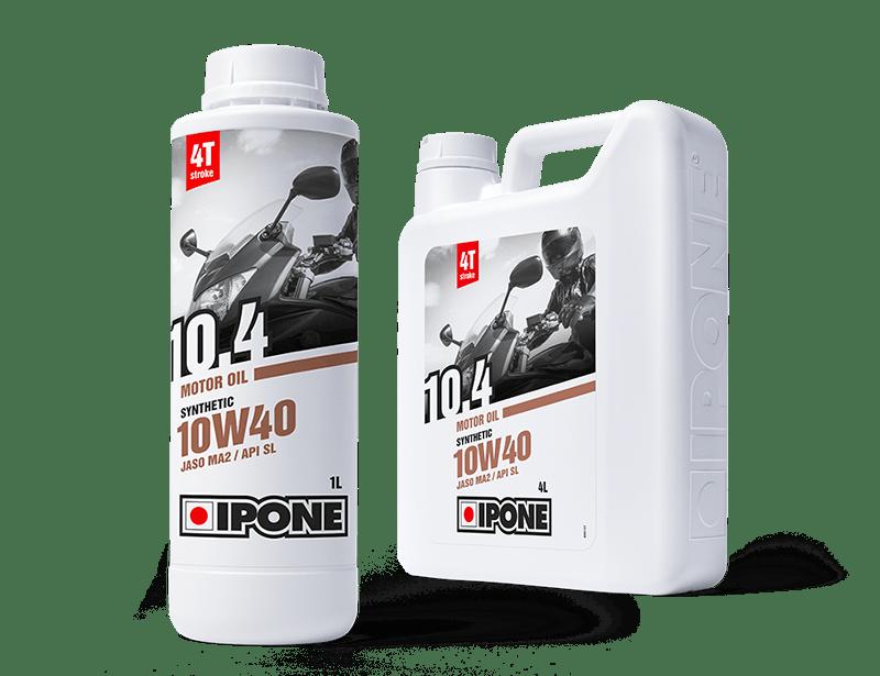 Bidons 1L et 4L huile moteur 4 temps 10.4 10W40 IPONE