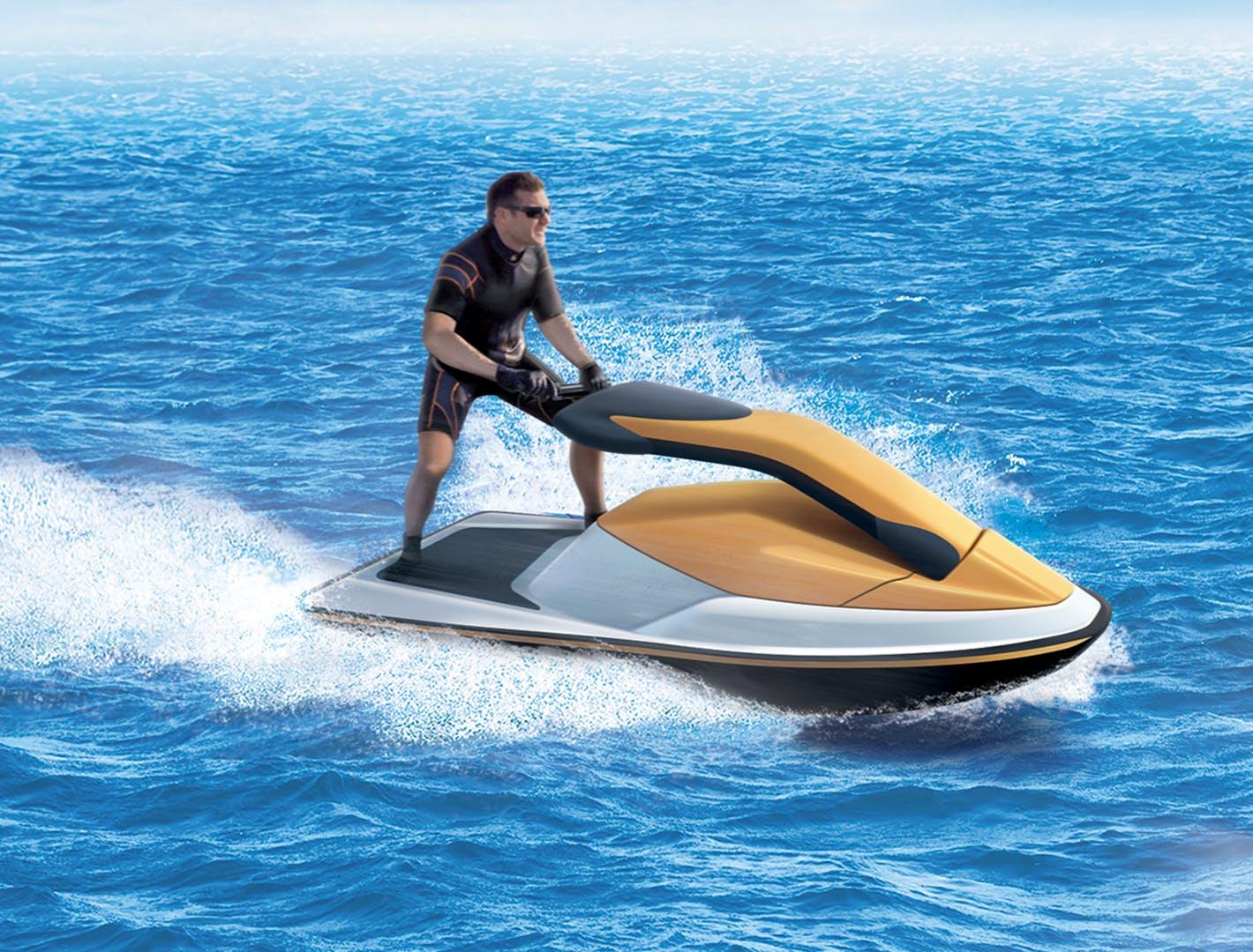 jet ski 2 temps sur l'eau